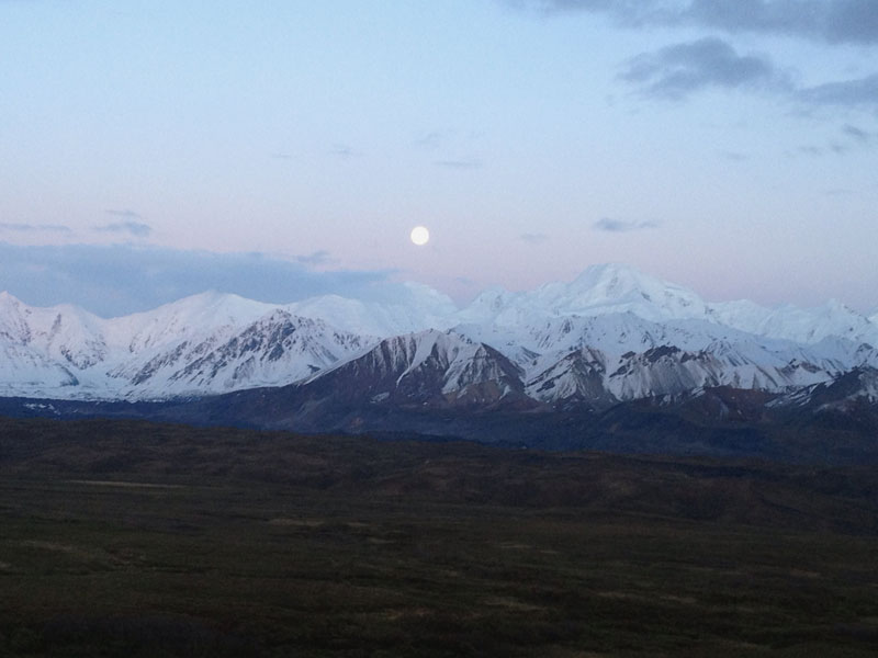 Moon Over Alaska Range