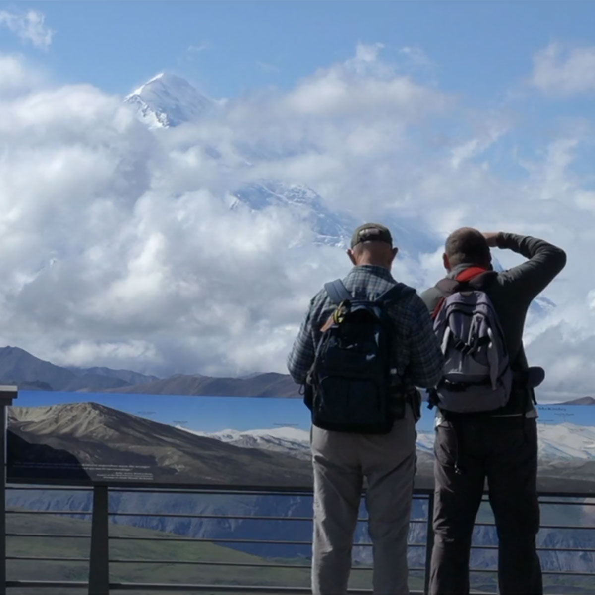 Viewing Denali from the Visitors Center